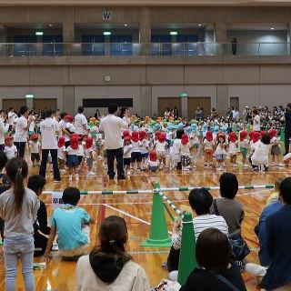 体育館で開催した運動会