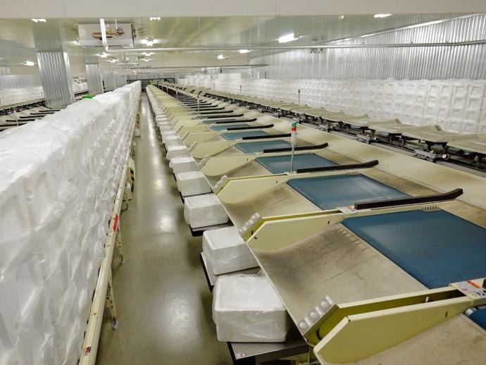延床面積約13,250坪の大規模物流センター