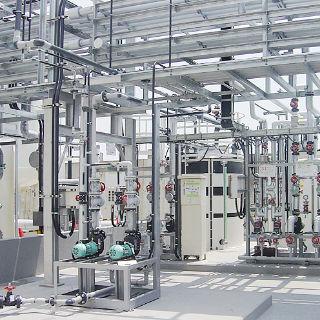 屋外水処理配管